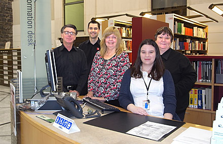 The Genealogy Team: Grant, Chris, Anne, Carmen and Jenny