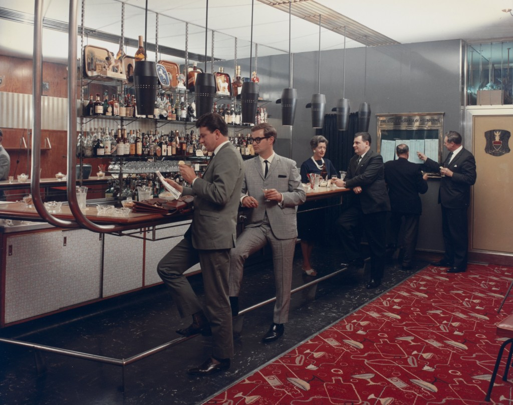 Wolfgang Sievers, Club Bar, Menzies Hotel, Melbourne, 1965, chromogenic photograph, H98.30/398