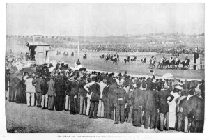 Finish of the Melbourne Cup, 1891