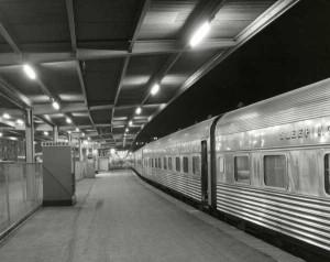 Wolfgang Sievers Southern Aurora Platform 1, Spencer Street Station
