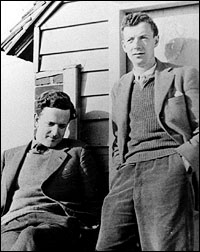 Benjamin Britten (right) and Peter Pears