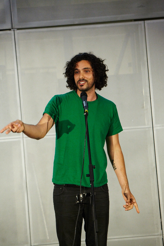Luka Lesson performs at Australian Poetry Slam Victorian final. Picture: Andrew Lloyd.