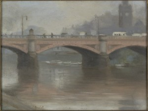 Princes Bridge: Clarice Beckett (ca.1923)