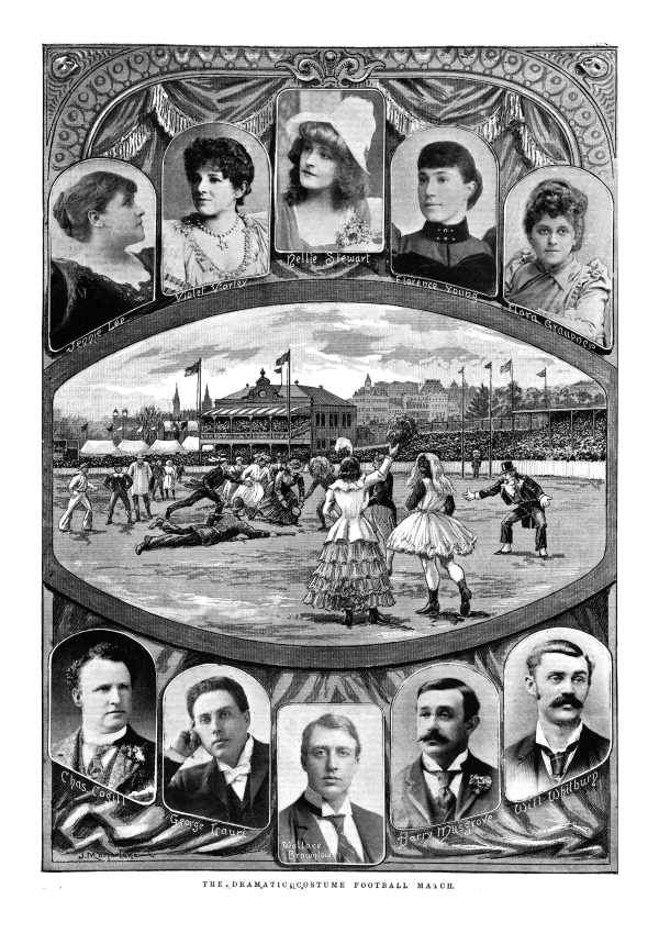 The Dramatic Costume Football Match, 1894