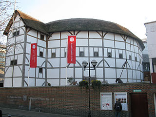 Globe Theatre, London, by Schailer.  c2008. Courtesy Wikimedia Commons.