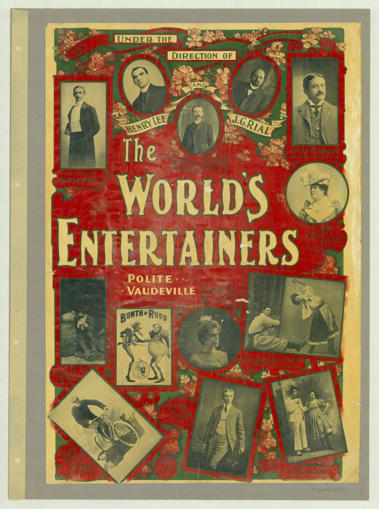 The World's Entertainers, polite vaudeville, 1901