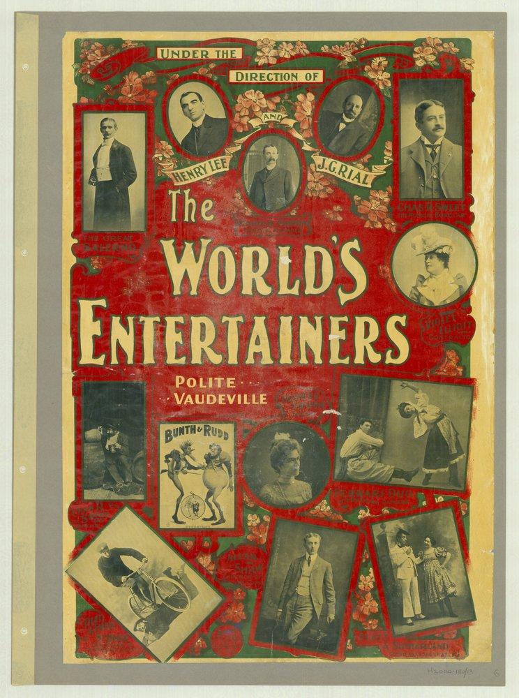 The World's Entertainers, polite vaudeville, 1901
