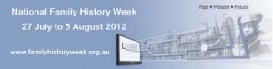 National Family History Week 2012