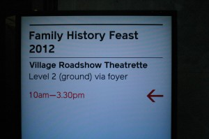 Family History Feast 2012 – Monday 30 July