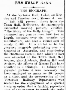 The Kelly Gang article from the Colac Herald