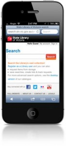 Search our catalogue on your mobile phone