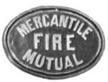 A fire mark from a Melbourne building in the early 1900's.