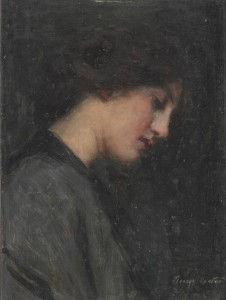 An oil painting of woman by Melbourne artist George Coates.