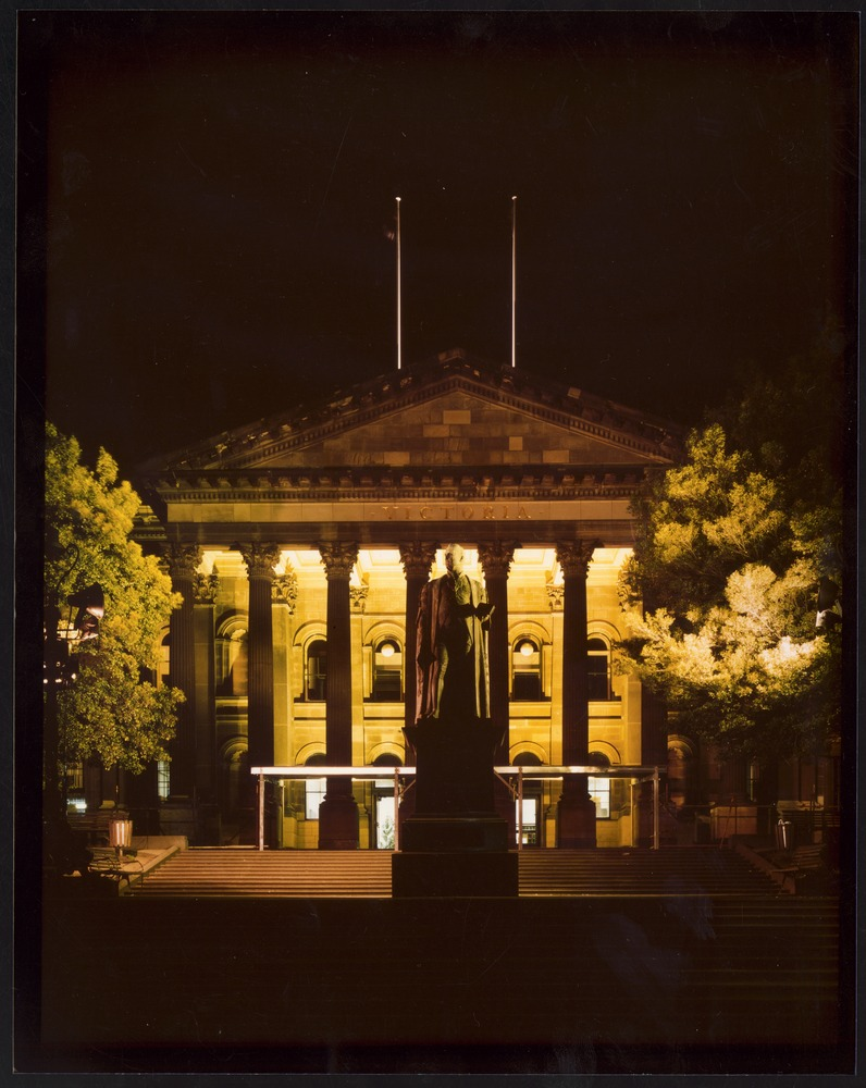 Facade of the State Library of Victoria
