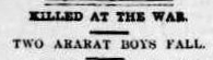 From Ararat to the Dardanelles: World War I through newspapers