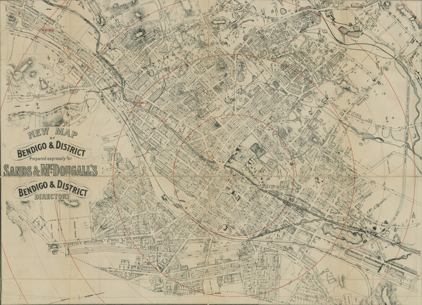 This 1896 map shows the streets of Bendigo