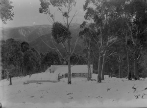An early chalet at Mt Buller.