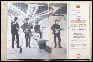 1964 Beatles Tour Programme signed to Kenn Brodziak