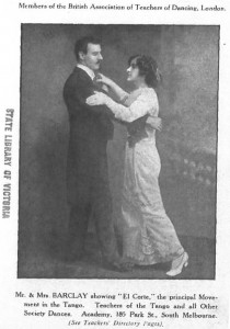 A couple show how to dance the tango