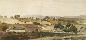 An 1849 watercolour of pentridge in Melbourne.