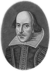 William Shakespeare (1564-1616), from the Perry-Castañeda Library, University of Texas at Austin. Author unknown.