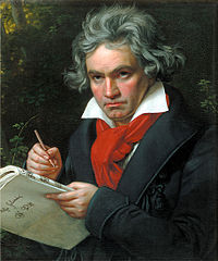 Portrait of Ludwig van Beethoven. 1820. Courtest Wikemedia Commons.