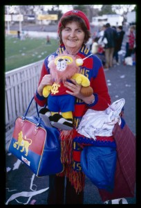 A dedicated fan of the Fitzroy Football Club at the Junction Oval
