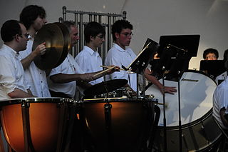 ECMB Percussion section by Villwock, July 2010.  Courtesy Wikimedia Commons.