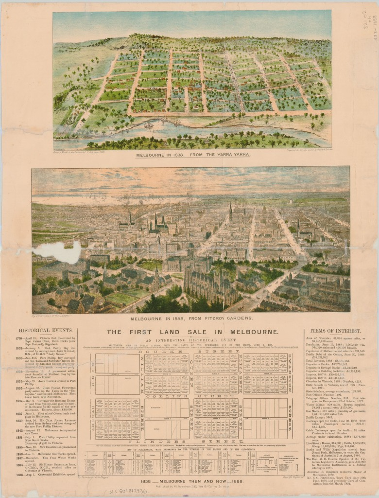 1838 - 1888, Melbourne then & now
