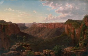 Eugene von Guérard: Govett's Leap and Grose River Valley, 1873