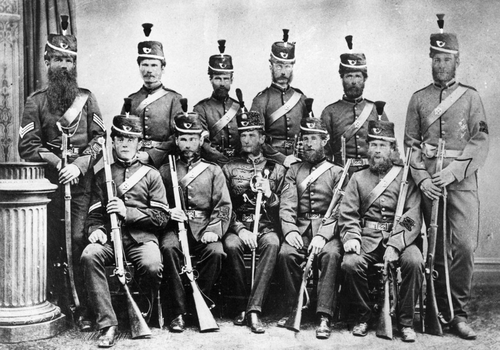 "The Ballarat Volunteer Regiment - ""Winning skirmishing team"" 1874, H98.105/3516"
