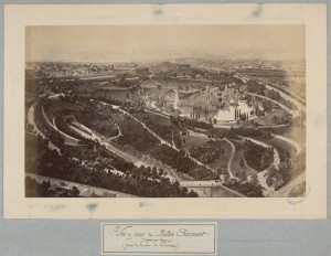 Vue du parc des Buttes Chaumont d'après un dessin