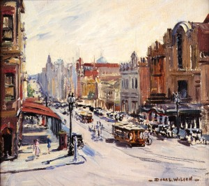 Dora Wislon: Corner of Spring and Bourke Streets, Melbourne