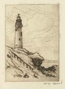 Unidentified light house on a cliff,c. 1900-10