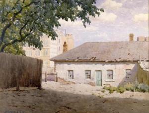 John Mather: Sir Redmond Barry's residence off Bourke Street, 1915