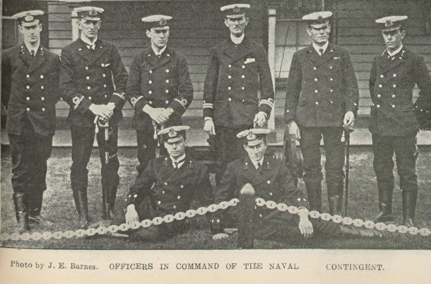 Photo of the officers in command of the Alvina
