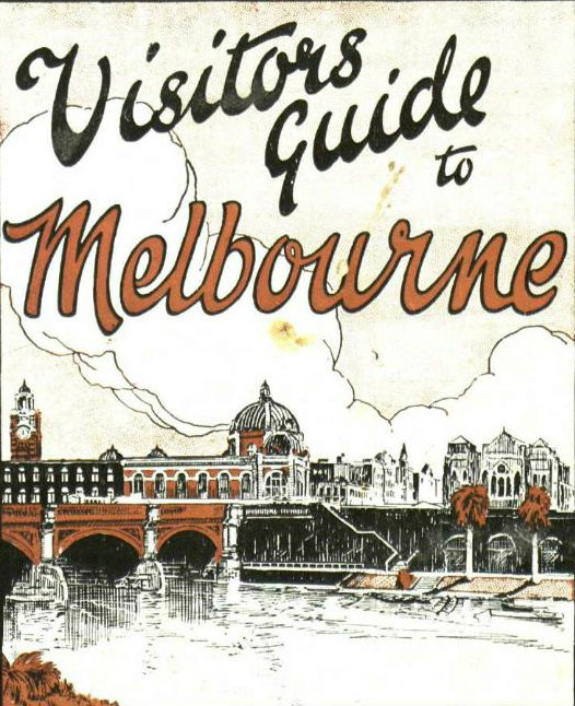 A page from the booklet 'Visitors guide to Melbourne.'