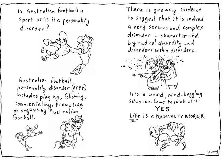 A poem and illustration by Michael Leunig.