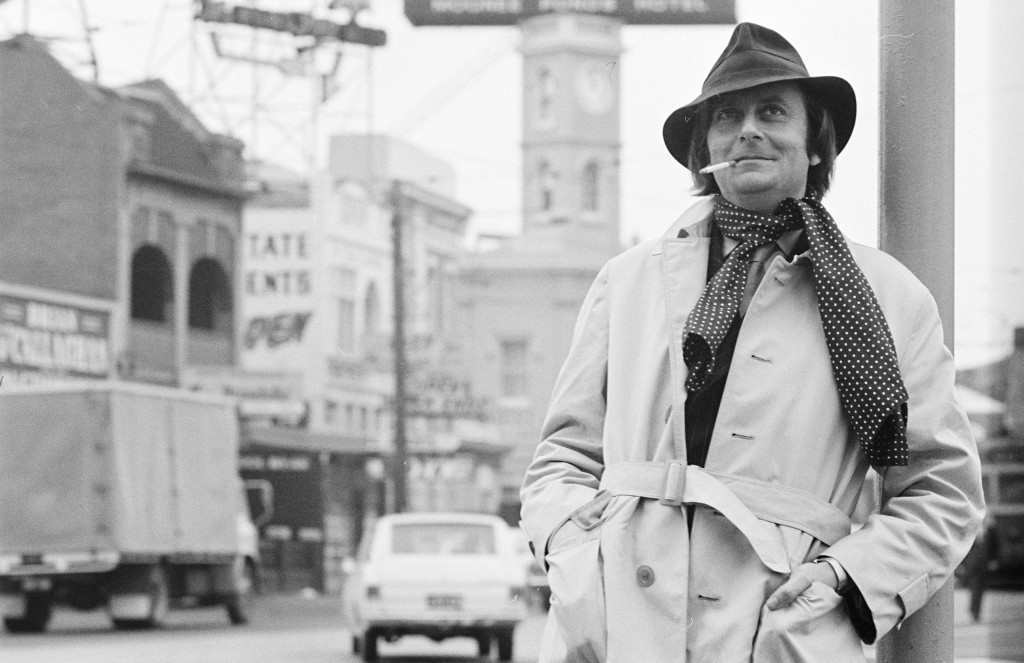Barry Humphries on the street