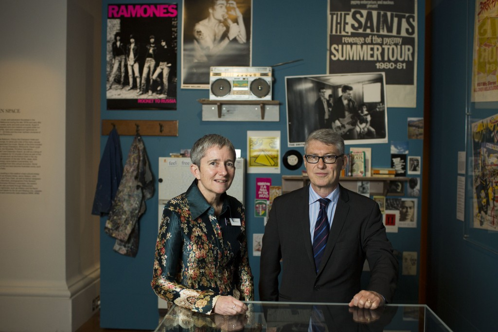 Curator Clare Williamson and special subject expert Tony Moore