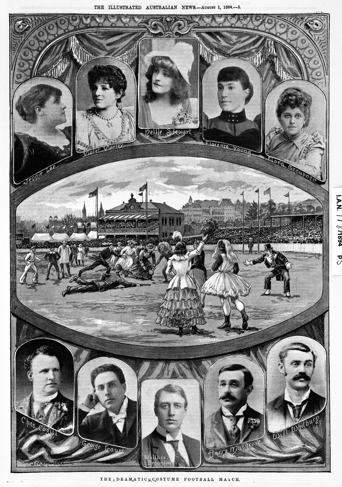 Costume footy match 1894