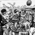 A bohemian football match