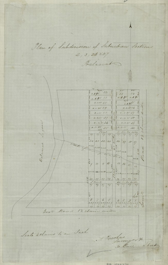 Plan of Ballarat of suburban sections