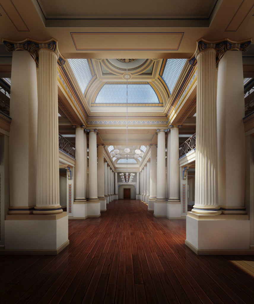 Artist's impression of the new Queen's Hall, created by durek wittingslow visualisation