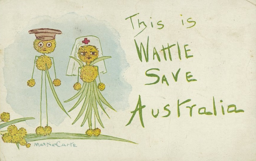 'This is wattle save Australia' postcard, c1914-18