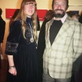 Barbara and Albert Tucker at a gallery event in Melbourne, mid 1970s, photographed by Rhonda Senbergs.