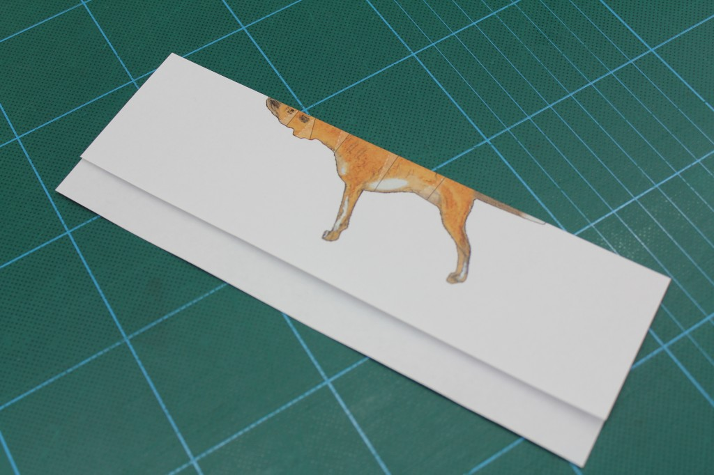 Image of pilot the papercraft dog