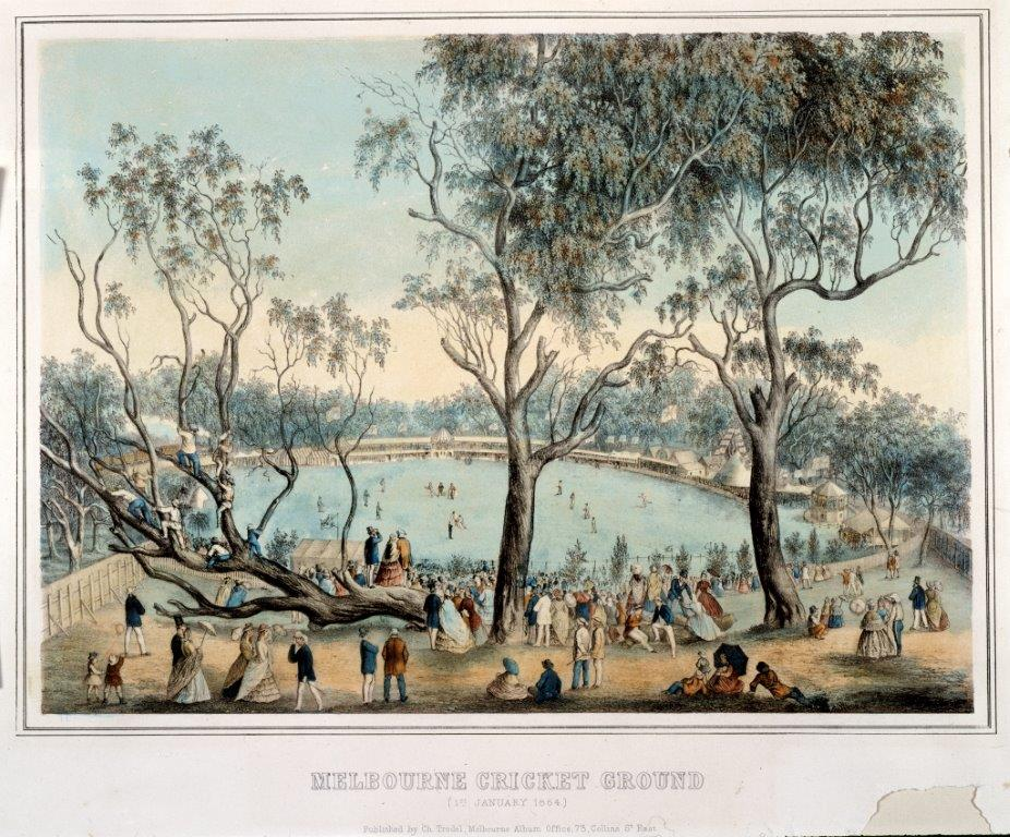 Image of Melbourne Cricket Ground in 1864