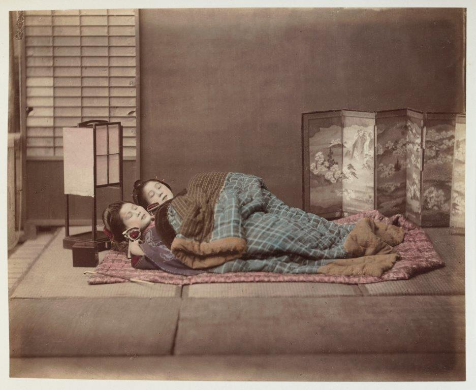 Two Japanese women sleeping