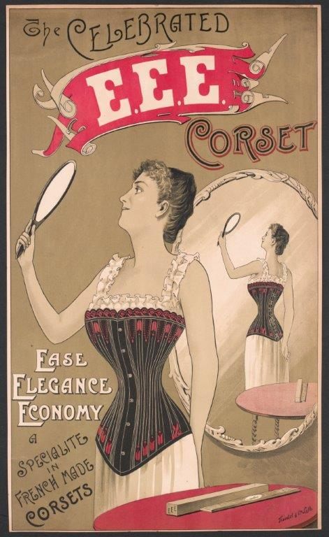Advertising poster for a corset